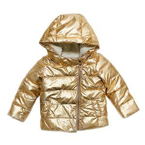 Gap Metallic Gold ColdControl Max Puffer Jacket